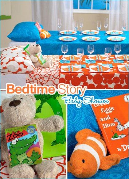 modern bedtime story baby shower