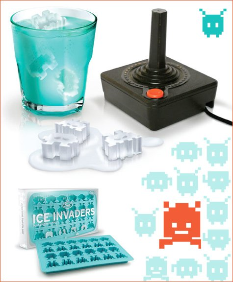 space invaders ice cubes by Fred