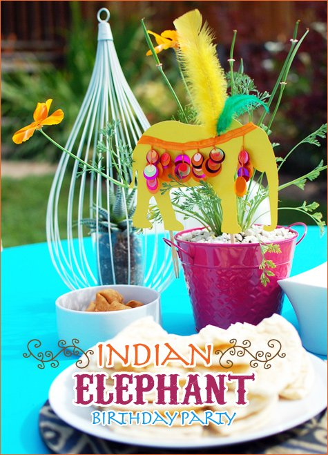 Indian Elephant birthday party ideas