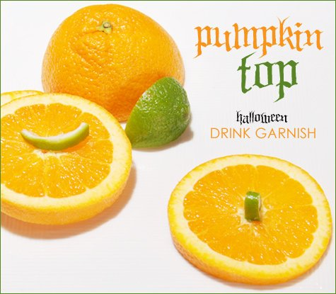 halloween cocktail - jack-o-lantern