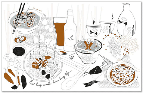 joy by mel lim placemats