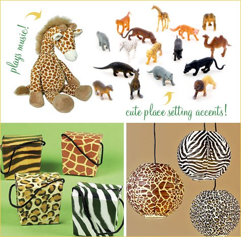 jungle themed baby shower ideas