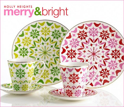 kate spade holiday dinnerware: holly heights