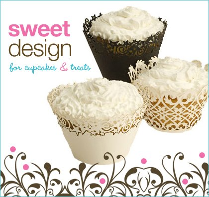 laser-cut contemporary cupcake wrappers