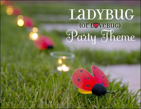 ladybug birthday valentines party ideas