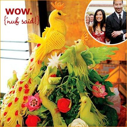 fruit and vegetable centerpiece idea
