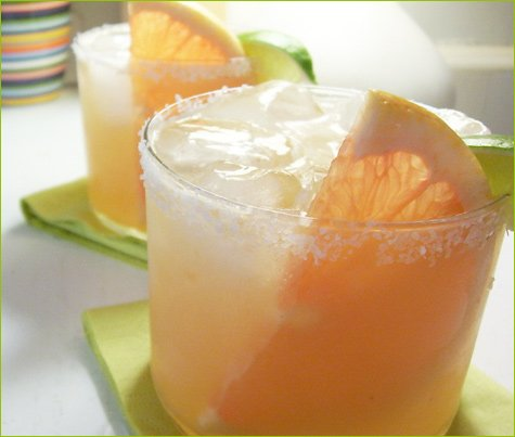 smoked grapefruit margaritas
