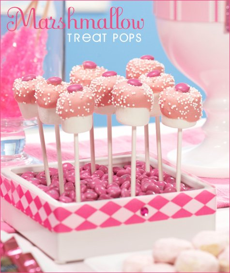 marshmallow treat pops