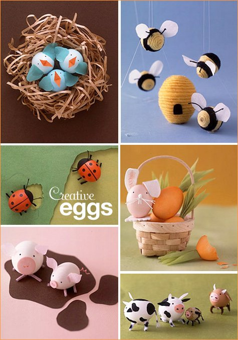 Easter egg creatures