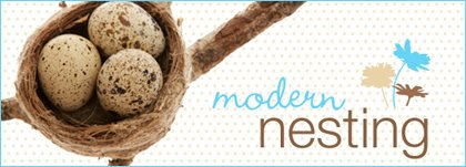 baby shower theme: modern nesting