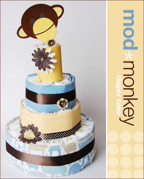 modern DIY diaper cake