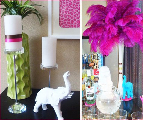 modern jungle menagerie baby shower