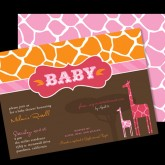 Modern Giraffe Baby Shower Girl