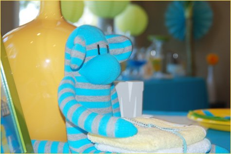 mod monkey baby shower theme