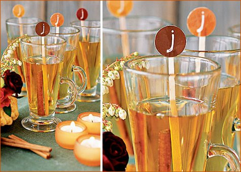 DIY personalized drink stirrers