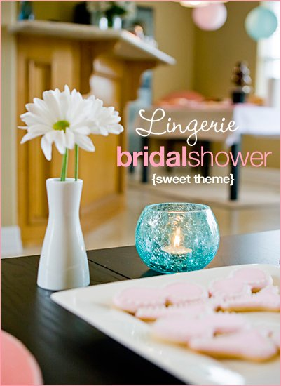 modern lingerie bridal shower