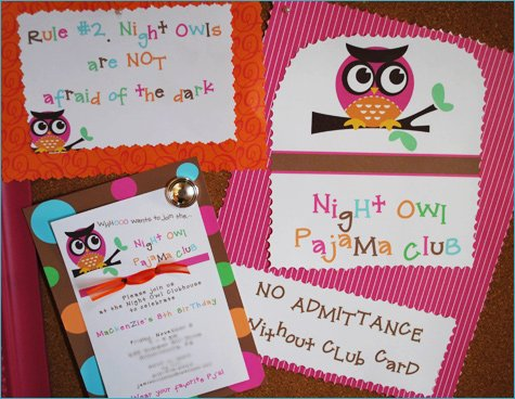 Night Owl Pajama Slumber Party Ideas