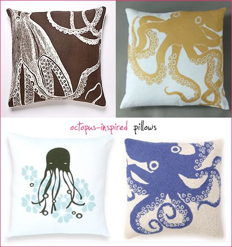octopus pillows - modern