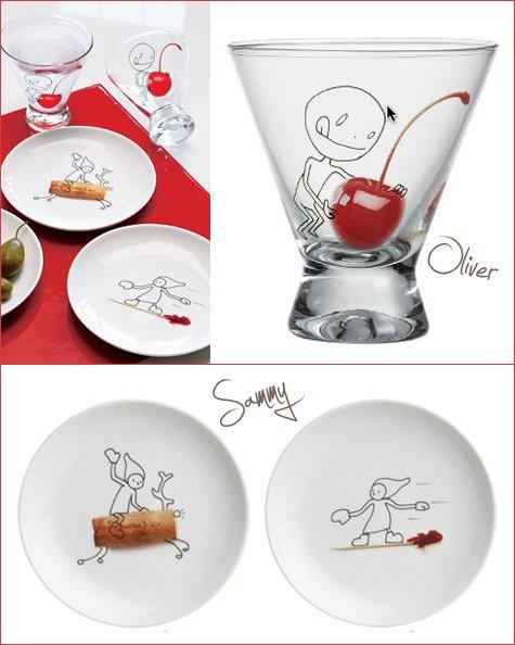 oliver glasses and sammy plates