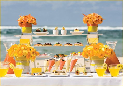 orange and yellow wedding or party