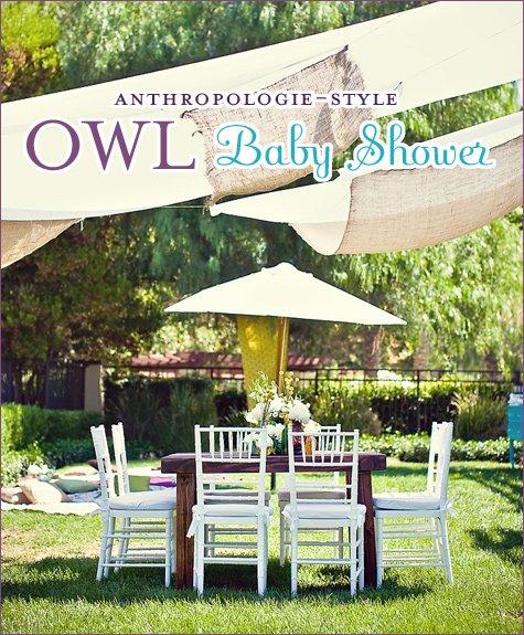 Anthropologie Owl Baby Shower
