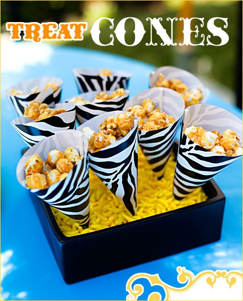 paper treat cones DIY