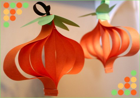 halloween paper pumpkin craft project