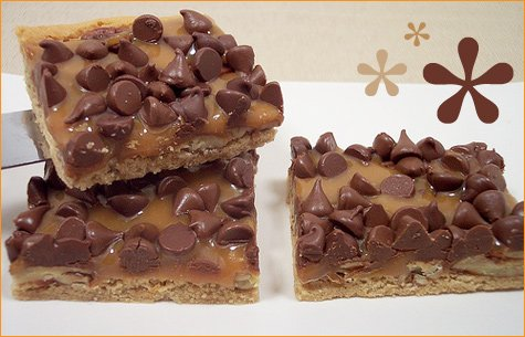 nutty peanut butter caramel bars