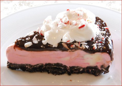 candy cane ice cream cake