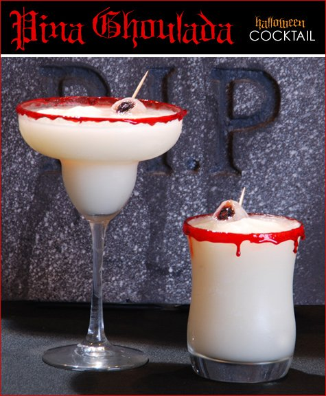 Halloween cocktail - pina ghoulada