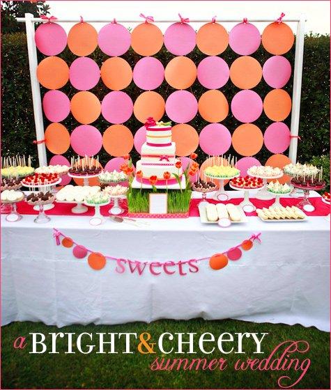pink and orange summer wedding