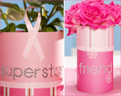 pink ribbon centerpiece