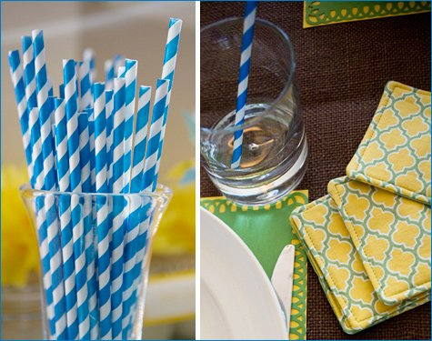 Pinwheels and Pom Poms party theme
