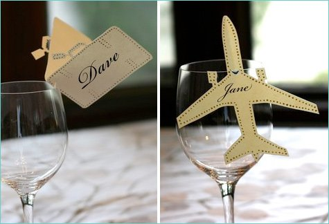 creative wedding place cards