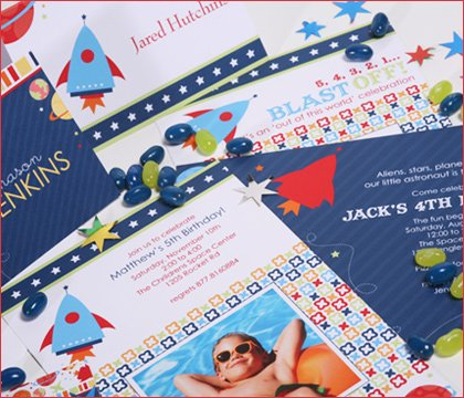 modern party + baby shower + graduation + kids birthday invitations
