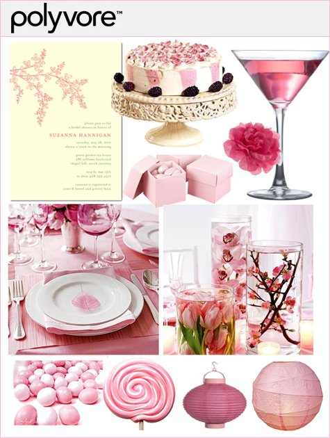 polyore - pink bridal shower