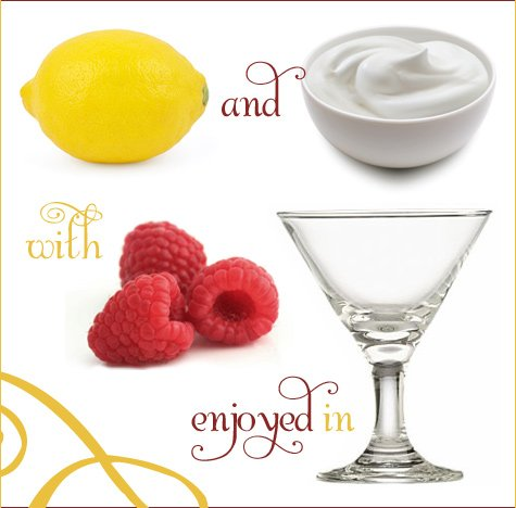 Raspberry and Lemon Cream Martinis