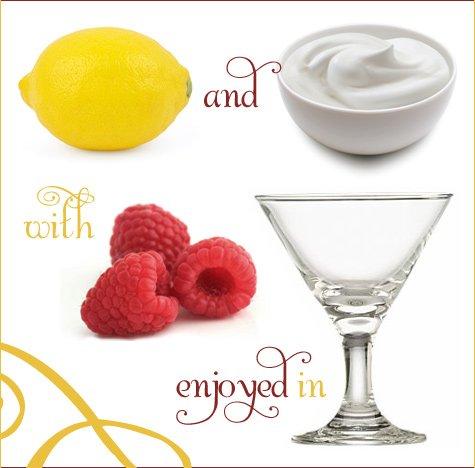 Raspberry and Lemon Cream Martinis