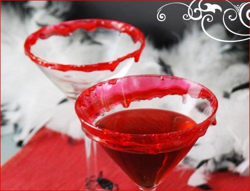 halloween cocktail glass garnish