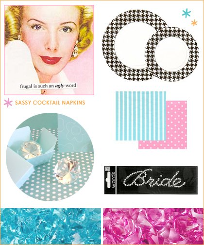 retro glam bridal shower