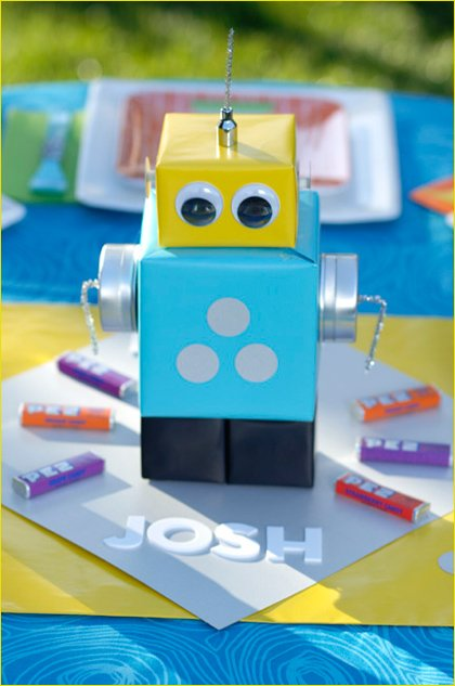 robot kids party