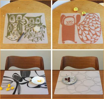 modern twist silicone placemats