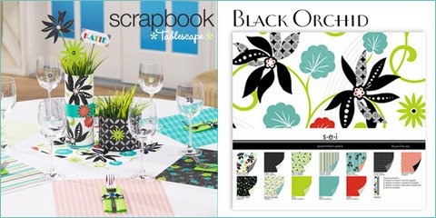 modern entertaining with scrapbook paper