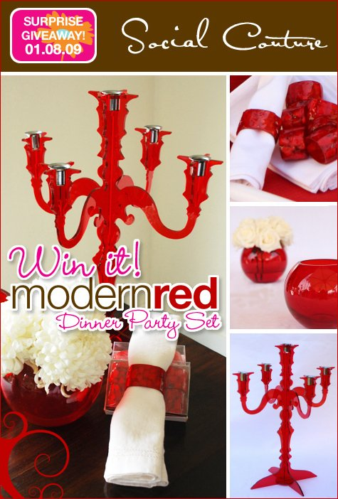 red dinner party giveaway