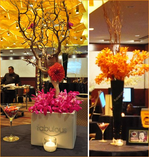 socialluxe lounge centerpieces & decor
