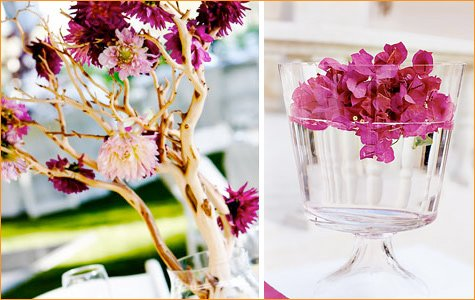 spa party orchid centerpieces