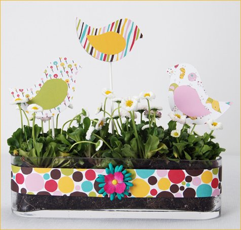 spring & Easter DIY centerpiece idea