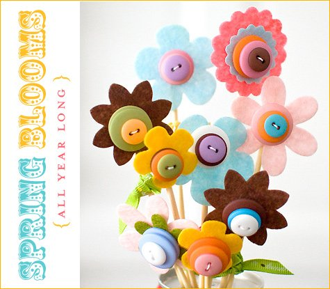 craft button bouquet