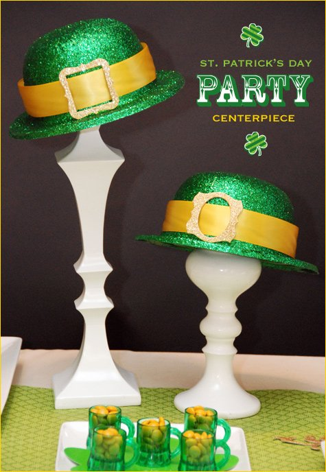 leprechaun hat centerpiece - st. patrick's day