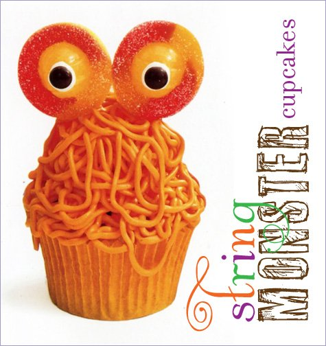 string monster cupcakes